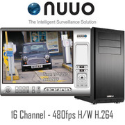 16 channel H/W H.264 NUUO PC DVR system