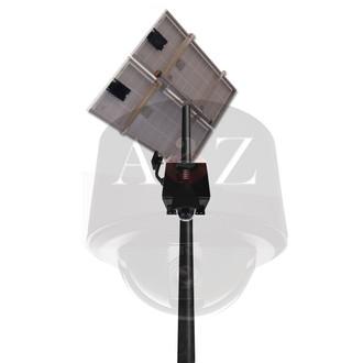 A2Z Wireless Solar HD & UHD PTZ Dome Camera System SS-PTZD Black Finish