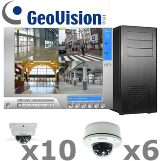 Geovision GV1-IP-SYSTEM complete 1080P HD IP Dome Security Camera System