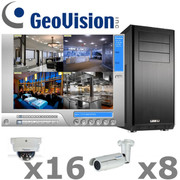 Geovision GV2-IP-SYSTEM is a complete Infrared 1080P HD IP Security Camera System Package.