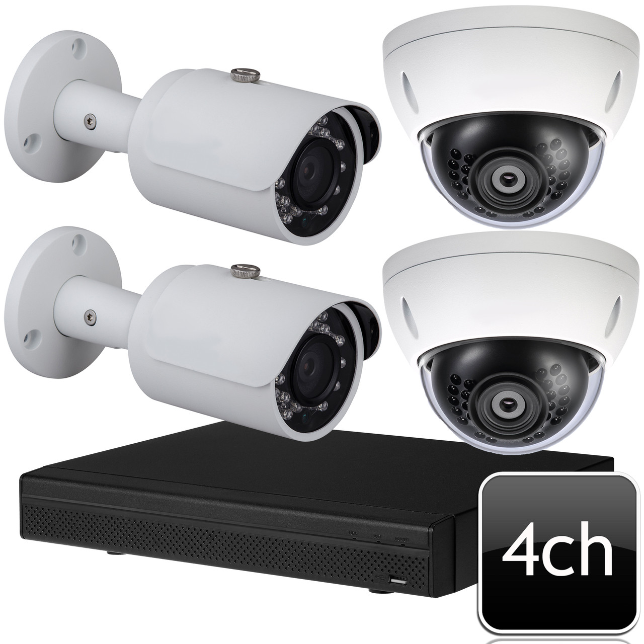 Dahua 4 channel 4MP Outdoor IR IP Security Camera System OEM-SD6