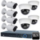Dahua 8ch 4MP 8 Bullet Dome Combo IP Camera System OEM-SD7