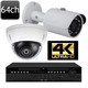 Dahua 64ch 4K NVR 64 Outdoor 4MP IR Dome and or Bullet IP Camera System OEM-SD10
