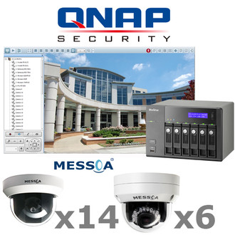QNAP MESSOA QM5-IP-SYSTEM 20ch Complete 2 Megapixel 1080P HD IP Security Camera System.
