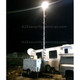 A2Z MCCT-LITE-IS Mobile Command Center Trailer Lite with Area Lighting System at night