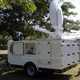 A2Z MCCT-LITE Mobile Command Center Trailer Lite VSAT Satellite system in auto-acquire mode
