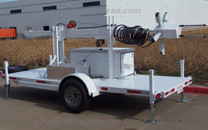 MMST-HDIB5GP Modular Mobile Security Trailer with Five HD 1080P Infrared Cameras
