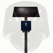 A2Z Solar Power Wireless 4G Embedded LPR Camera System - Vandal Dome Style - Low Profile - Black Finish