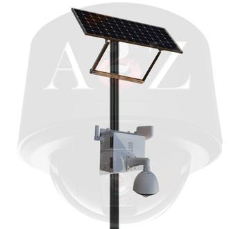 A2Z SS-FE series Solar Powered Wireless 4G Custom Fisheye (4K - 8MP to 8K - 32MP) Camera System White Finish