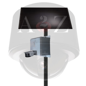 A2Z SS-P180 series Solar PWR Wireless 4G Panoramic 32MP 8K IR Camera System - Natural Finish Grey-Aluminum-Silver