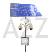 A2Z Wireless Solar Power 80 MP 360 Dual Panoramic IP Camera System