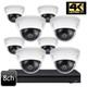 Dahua 4K 8ch IR Vandal Dome 8 IP Camera System OEM-SD2