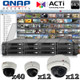 QNAP ACTi 64 channel 3 Megapixel IR Dome IP Camera System