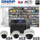 QNAP ACTi 48ch Megapixel IR Dome IP Security Camera System