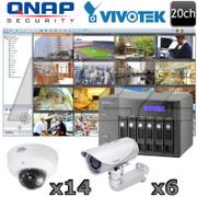 QNAP Vivotek QV13 20 channel Megapixel HD IP Security Camera System
