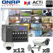 QNAP ACTi QA11 20ch Megapixel IP Security Camera System