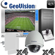 Geovision 4ch Wireless Outdoor 1080P HD PTZ Camera System GV18