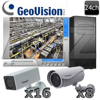 Geovision 24ch Ultra 3 Megapixel IP Security Camera System GV13
