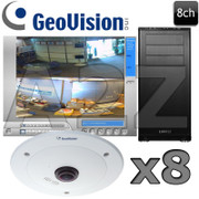 Geovision 8ch 4 MegaPixel 360 Fisheye IP Security Camera System GV9