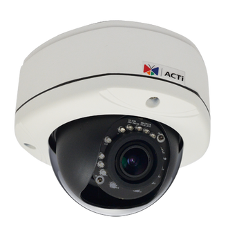 ACTi E81 1 Megapixel 720P WDR HD IR Vandal Proof Dome IP Camera