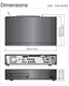 Samsung SRD-873D 960H DVR size