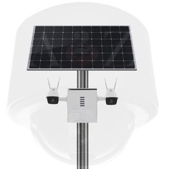 A2Z SS-DFIRBW Solar PWR Wireless WiFi Dual (2) IR Camera System - Bullet Style - White Finish
