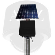 A2Z Solar Powered Wireless, WiFi & 4G Micro IR Dome PTZ Camera Systems Black Finish