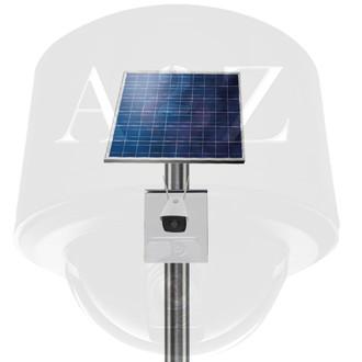A2Z SS-FIRBW Solar PWR Wireless WiFi IR Bullet Camera Systems - White Finish