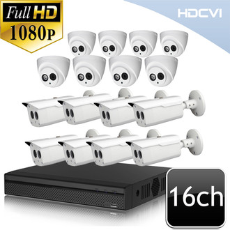 Dahua 1080P CVI 16ch Matrix IR Security Camera System ods6