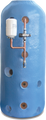 """160L 1200 (48"""") x 450 (18"""") Direct Open Vented Boiler (OVB) Thermal Store Cylinder"""