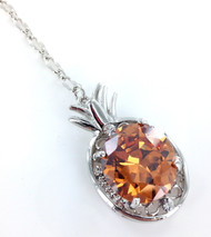 Champagne Diamond Pineapple Necklace