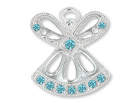March Birthstone Angel Pin
