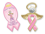 Breast Cancer Awareness Angel Tac Pin