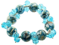 Crystal Bead Bracelets : Shell Accents