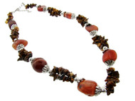 Genuine Semi-Precious Stone Necklace : Tigers Eye