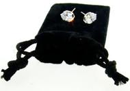 CZ Stud Earrings Wholesale : Oval