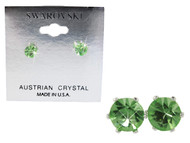 Swarovski Crystal Elements Stud Earrings : Peridot
