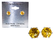 Swarovski Crystal Elements Stud Earrings : Jonquil