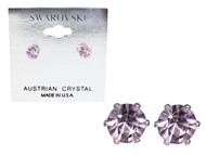 Swarovski Crystal Elements Stud Earrings : Tanzanite