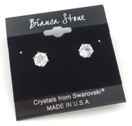 Swarovski Crystal Elements Stud Earrings : Diamond