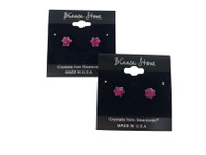 Swarovski Crystal Elements Stud Earrings : Fuchsia