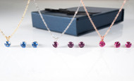 Bianca Stone Design-Your-Own Necklace & Earring Set