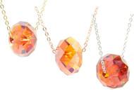 Bianca Stone Swarovski Crystal Briolette Charm Necklace
