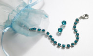 Swarovski Crystal December Birthstone Bracelet & Earring Set