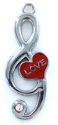Zinc Alloy Music Love Charm
