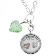 Floating Locket Necklace - Paw Print