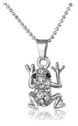 Crystallized Necklace - Frog