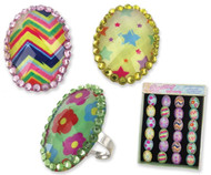 Easter Egg Bling Rings