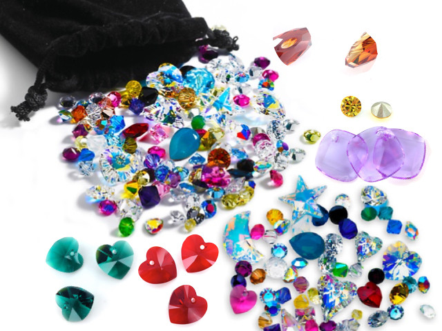 50 Carats of Assorted Swarovski Crystals