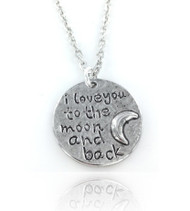 I Love You To The Moon & Back Necklace - Disc
